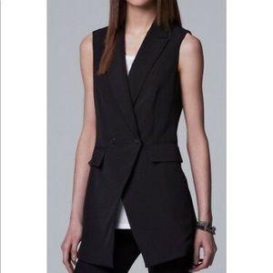 Vera Wang Sleeveless Double Breast Vest